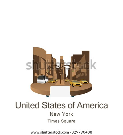 Times Square New York United States of America - stock vector