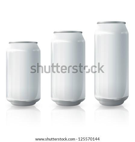 Tin collection. Vector design. - stock vector