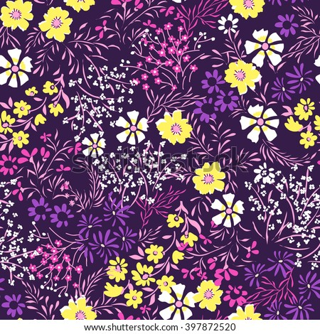 tiny ditsy floral print ~ seamless background