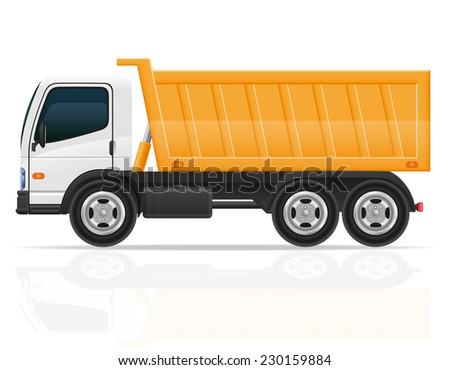 tipper truck for construction vector illustration isolated on white background - stock vector