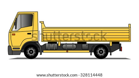 Tipping lorry - stock vector