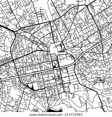 Tirana Albania Vector Map Monochrome Artprint Stock Vector 614714483