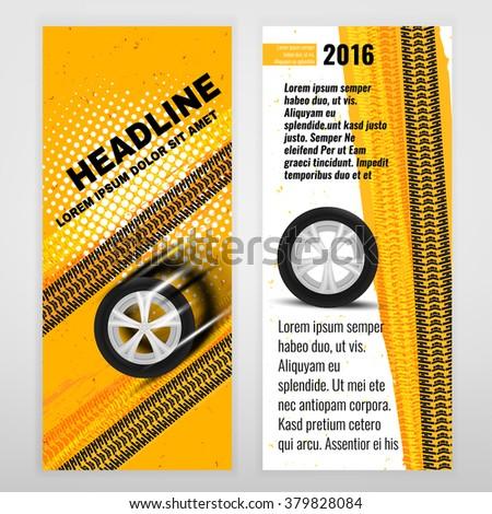 Tire Banner  - stock vector