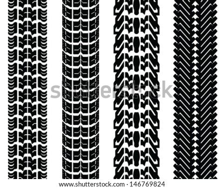 Tire prints-vector illustration - stock vector