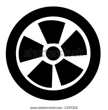 tire symbol - stock vector