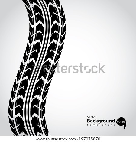 tire track background abstract background - stock vector