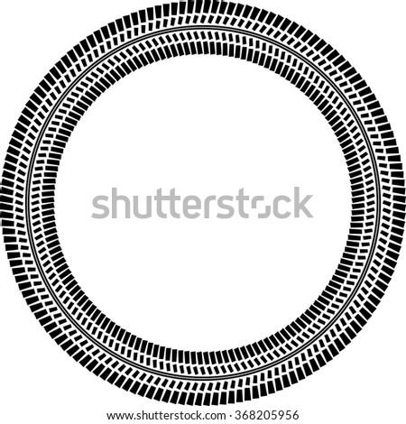 tire track vector round border frame stock vector 368205956 rh shutterstock com