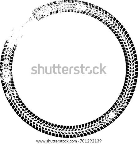 tire track vector round border frame stock vector 701292139 rh shutterstock com Mud Tire Tracks Vector Dirt Bike Tire Track Vector