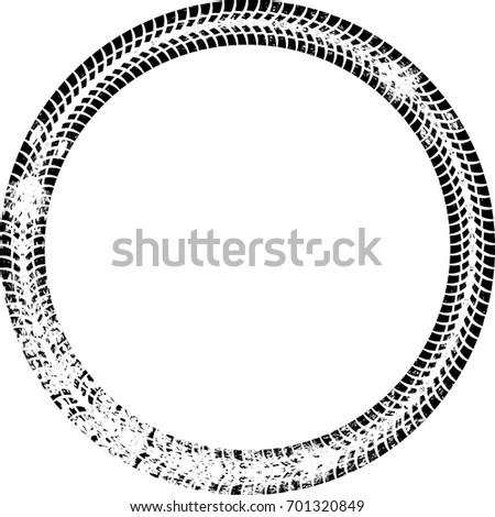 tire track vector round border frame stock vector 701320849 rh shutterstock com
