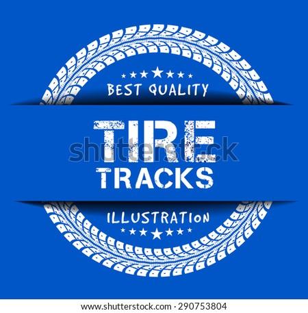 Tire tracks - stock vector