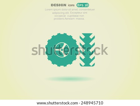 tire vector icon