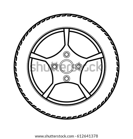 Tires And Wheels Tires And Wheels Vector