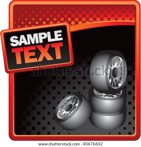 tires on classy modern style grunge template - stock vector
