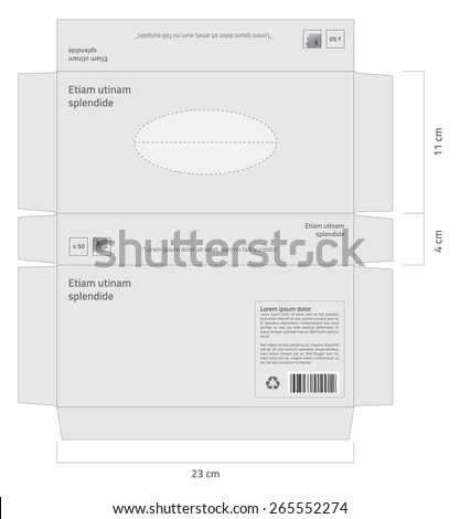 Tissue box vector - Standard size. - stock vector