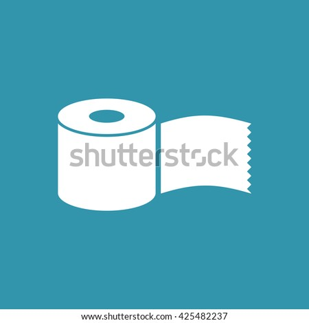 Tissue Paper Roll Icon. Eps-10.