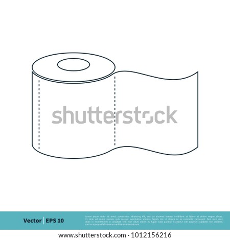 tissue toilet paper icon vector logo stock vector royalty free