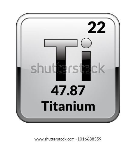 Titanium symbol chemical element periodic table on stock vector titanium symbolemical element of the periodic table on a glossy white background in a urtaz Choice Image