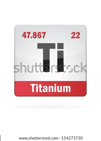 Titanium Symbol Illustration Icon On White Background - stock vector
