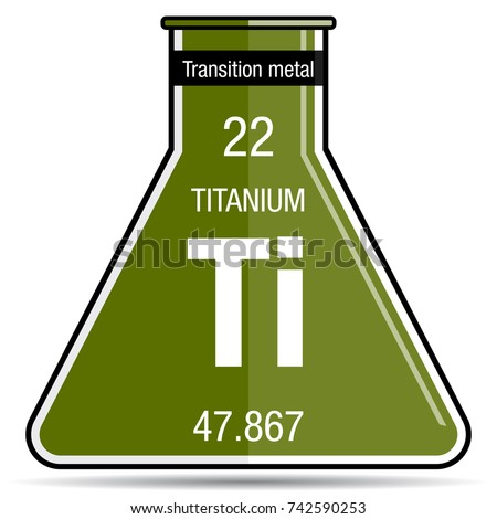 Titanium symbol on chemical flask element stock vector 742590253 titanium symbol on chemical flask element number 22 of the periodic table of the elements urtaz Image collections