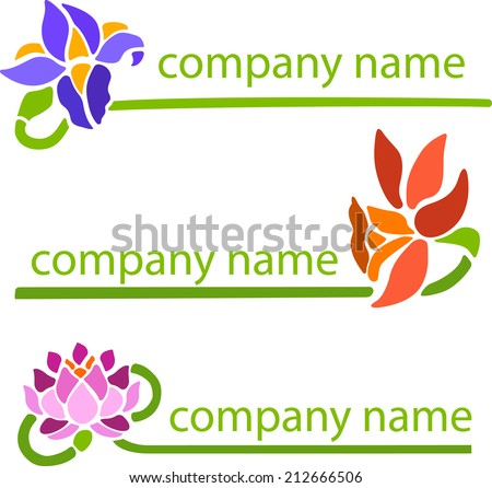 Title Companies Name Company Symbol Decorative Stock Vector 2018