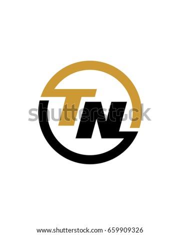 TN Initial Circle Logo Template Vector Stock Vector 659909326 ...