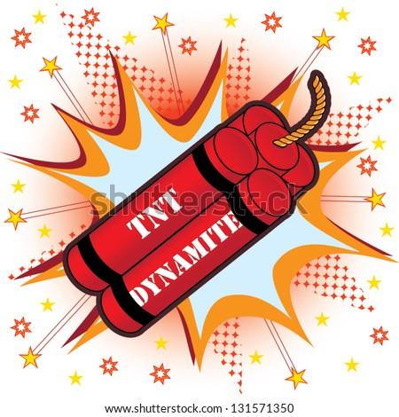 Tnt dynamite vector - stock vector