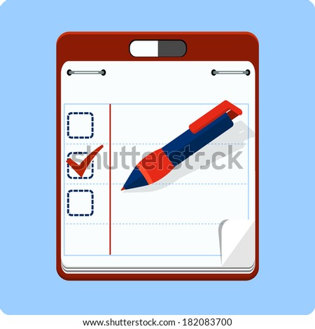 To do list and check box - stock vector