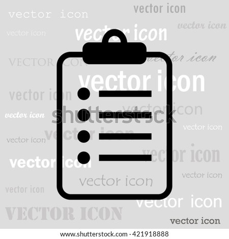 to do list black vector icon