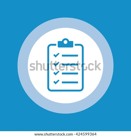 To do list icon . Vector illustration - stock vector