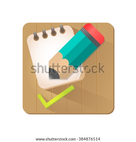 To do list icon. Vector illustration. Check list. Flat style design. - stock vector