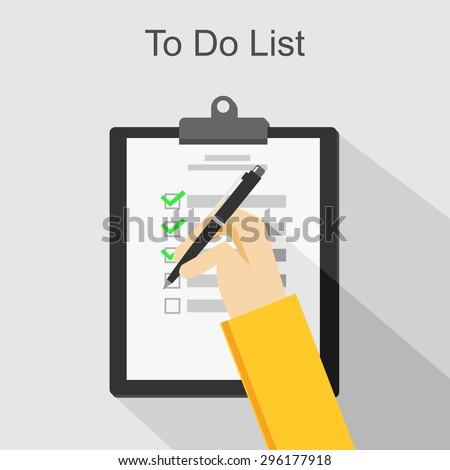 To do list illustration. - stock vector