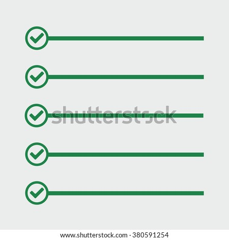 To do list. Lines with check boxes. checklist for note. check mark. election and voting. - stock vector