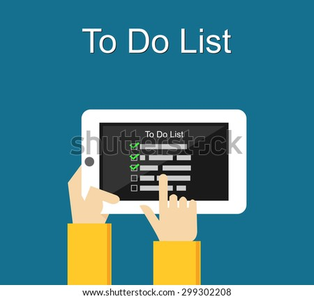 To do list mobile application. - stock vector