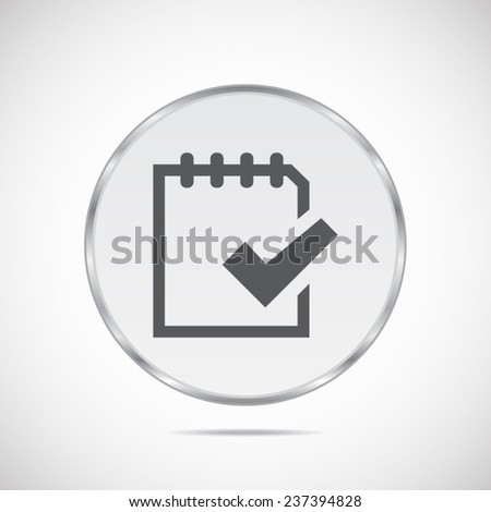 To do list on note vector icon - stock vector