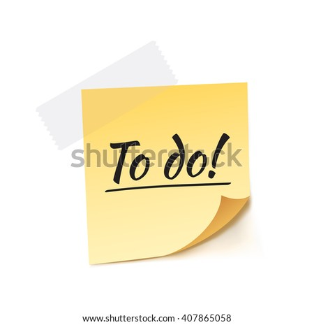 To Do Stick Note Vector Illustration - stock vector