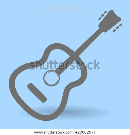 To play guitar vector illustration