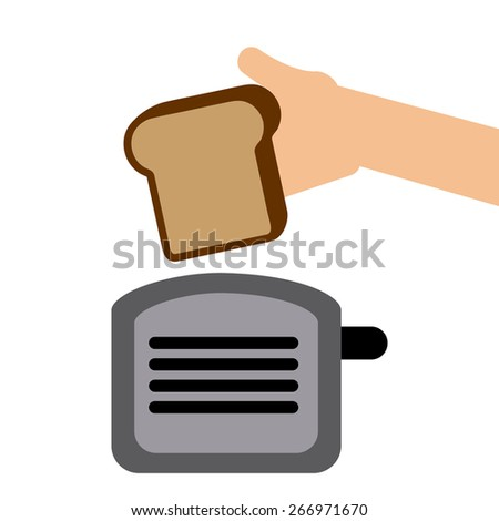 toast bread design, vector illustration eps10 graphic  - stock vector