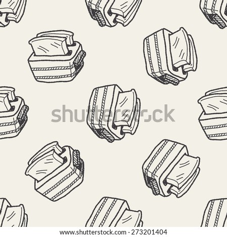 toast doodle drawing seamless pattern background
