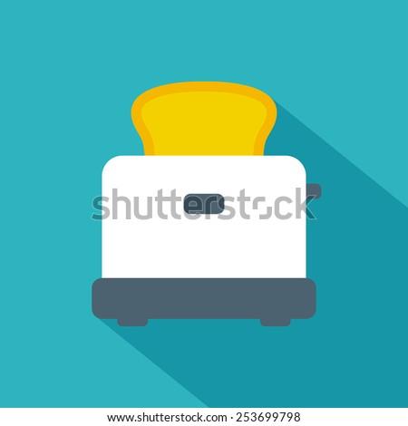 Toaster icon. Flat style. Vector illustration. - stock vector