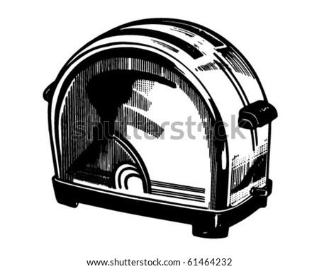 Toaster - Retro Clip Art - stock vector
