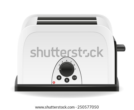 toaster vector illustration isolated on white background - stock vector