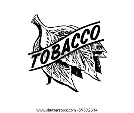 Tobacco - Retro Clip Art - stock vector