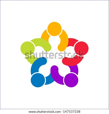 together concept - stock vector