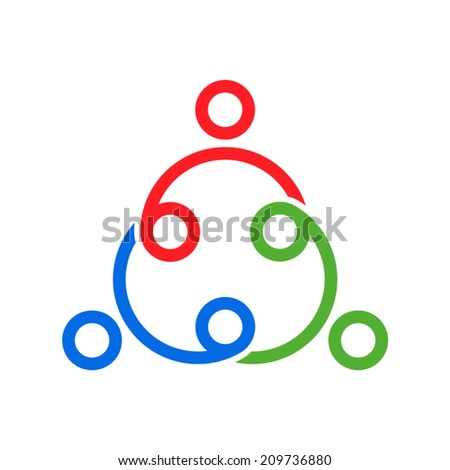 together icon - stock vector