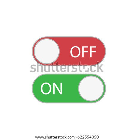 Toggle Switch Icon Slide Button Icon Stock Vector ...