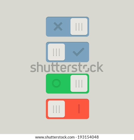 Toggle Switch On and Off position. Button. Vector Illustration - stock vector