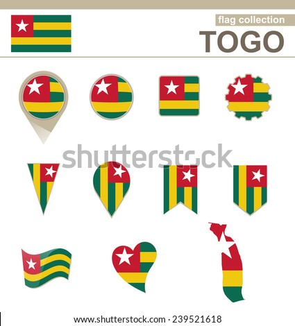 Togo Flag Collection, 12 versions