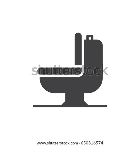 Toilet bowl icon vector  filled flat sign  solid pictogram isolated on  white  Symbol. Man Woman Toilet Line Icon Outline Stock Vector 574732219