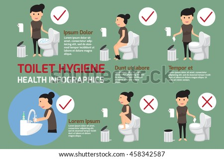 Hygiene stock images royalty free images vectors - How to thoroughly clean your bathroom ...