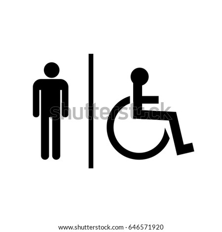 Bathroom Signs Vector male female bathroom sign stock vector 621184988 - shutterstock